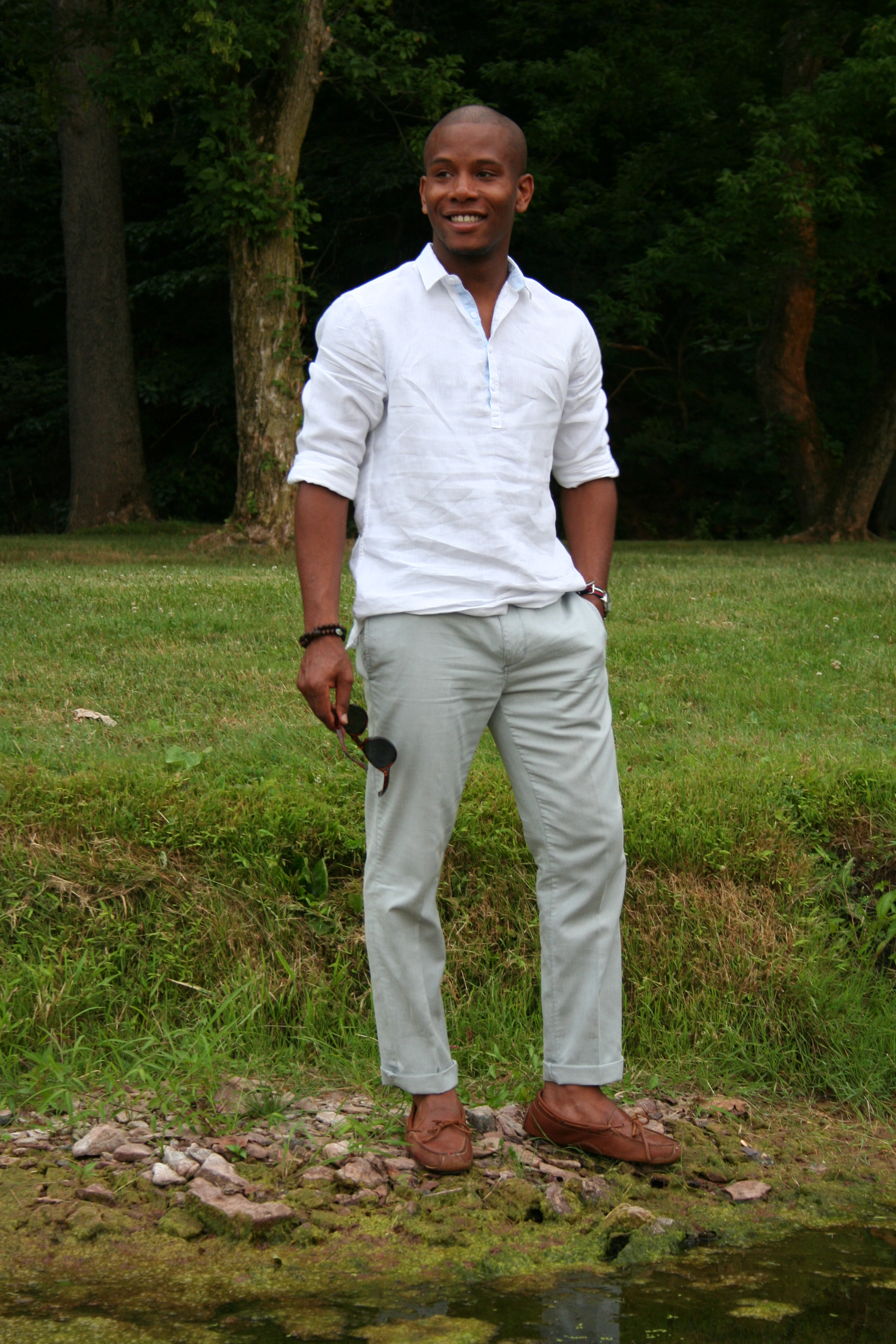 Shoes With White Linen Pants