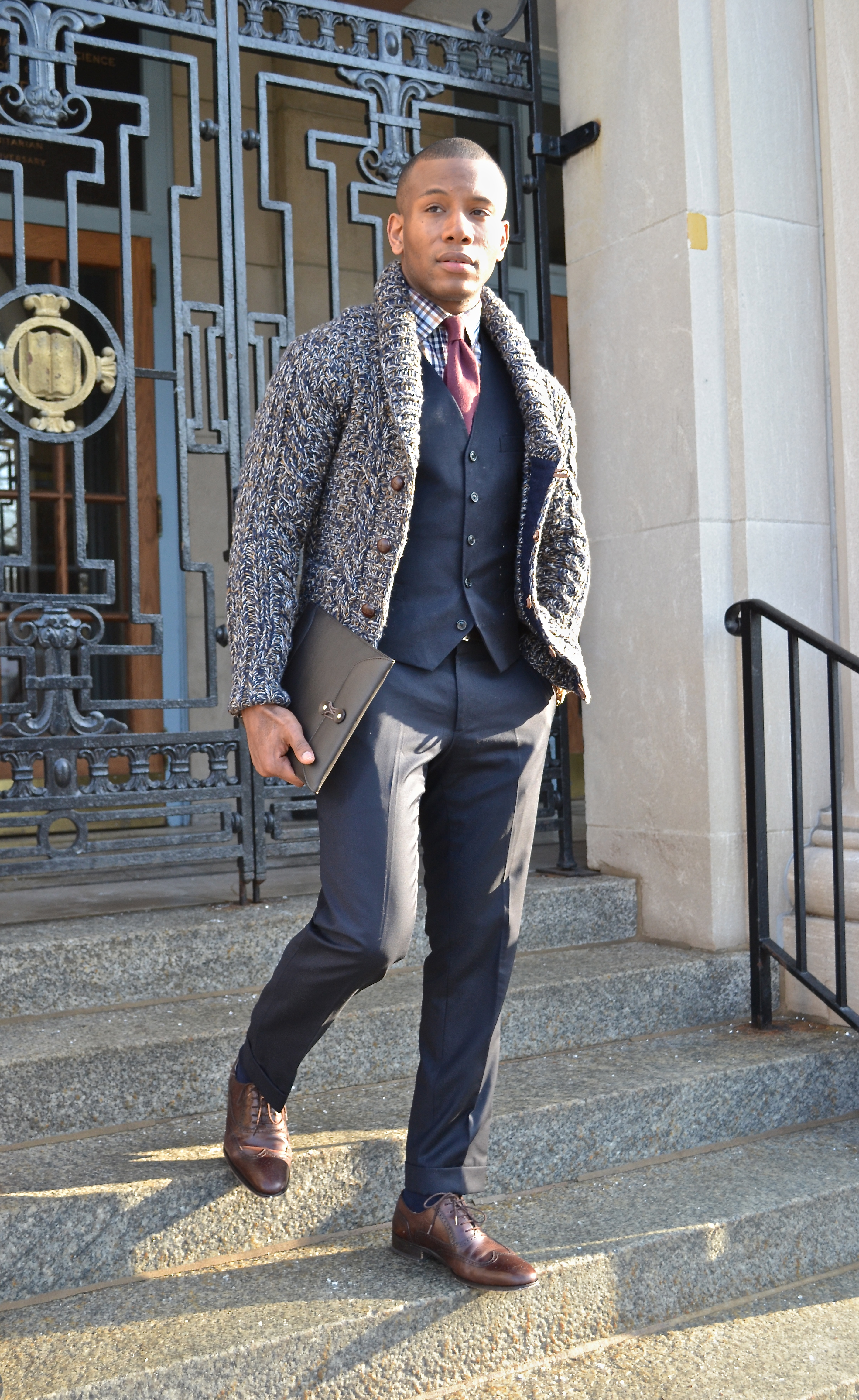 How To: Wear Cardigans As Outerwear
