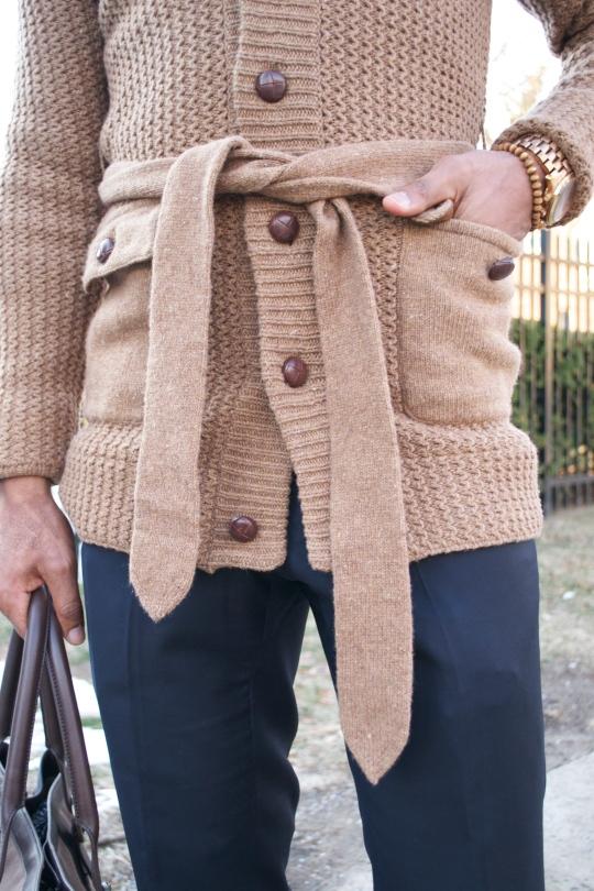 Onassis Clothing Belted Cardigan - Men's Style Pro